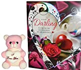 #6: love gifts for boyfriend - I Love You Teddy Bear,For My Darling Greeting Card
