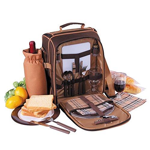 Apollowalker Picknick Rucksack für 2mit Isolierte Fach und Besteck.