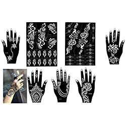 Aktion - Henna Tattoo Schablone Tattoo Vorlage 7 Sheet Set für Körperbemalung SET B