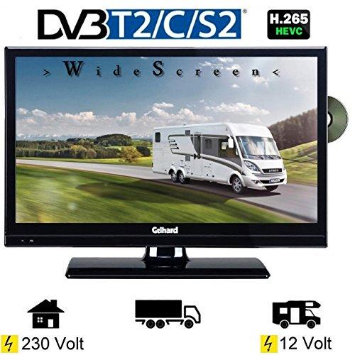 Gelhard GTV2042 LED TV 20 Zoll Wide Screen DVB/S/S2/T2/C, DVD, USB, 230/ 12 Volt