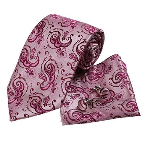 h5065-rose-motif-cachemire-soie-cravate-boutons-de-manchette-mouchoir-set-3pt-par-yg