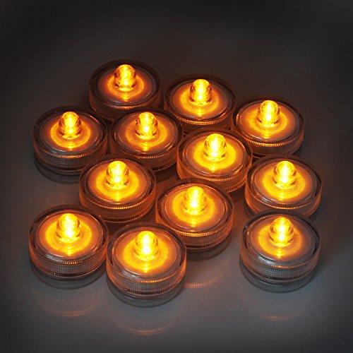 keesin Flameless decorazione per candela luce 12pcs imprägniern lampada a LED lumini-candela elettrica per matrimonio Fisso bianco caldo