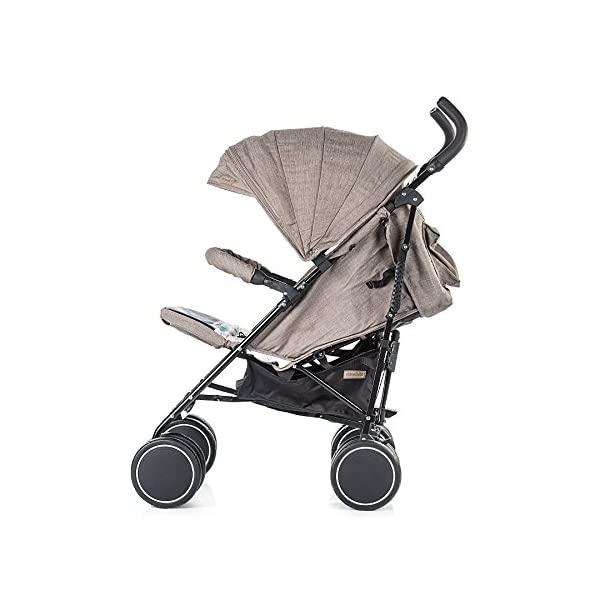 Chipolino Baby Stroller Sofia, Jeans Mocca Chipolino Suitable for babies aged 6+ months and weighing up to 15kg 3 position reclining backrest Adjustable leg rest covered with luxury breathable leather for easy cleaning 2