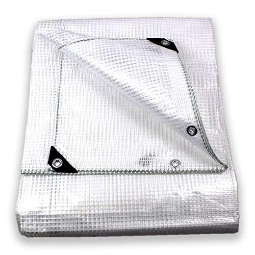 Tata home telo in pvc antristrappo retinato rinforzato e resistente trasparente impermeabile con occhielli misura cm 300x250 metri 3,0x2,5