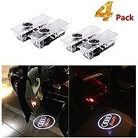 4 piezas Iluminación de la entrada de la luz del coche LED 3D Luz de la lámpara del logotipo del proyector de bienvenida