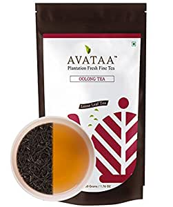 Avataa Oolong Tea - Authentic Handpicked Tea with A Refreshing Taste. High in Antioxidants, Ideal for Detox and Aids in Weight Loss, Loose Leaf Tea (50 Grams/1.76 Oz/25 Cups)