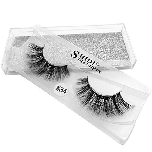 OHQ Shidspin Vison Cheveux Faux Cils Noir Vrai Faux Prolongement éPais Naturel De Faux Cils De Maquillage De Faux Longs Yeux D'Oeil De Les Cils Naturel 3D Beaute MagnéTique Individuel Aimanté Volumineux (NoirC)