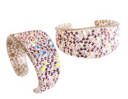 Adreani Lucite Bracelet incrusté de pierres en cristal Swarovski, Taille: XS Lillà+Boreale 1115