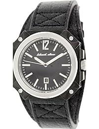 Black Dice BD 070 01 - Reloj analógico de cuarzo para hombre con correa de acero inoxidable, color negro