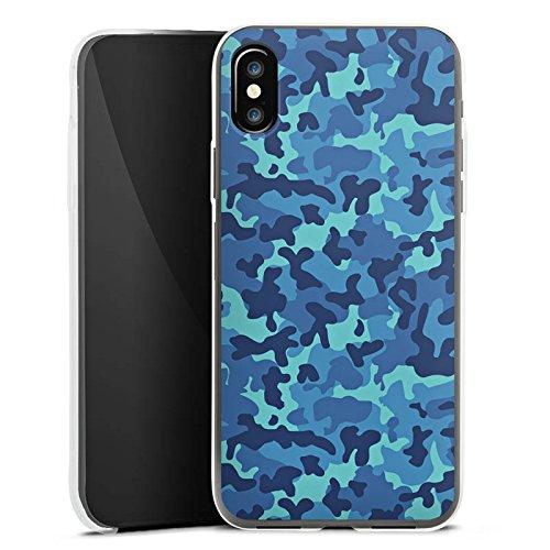Apple iPhone 8 Plus Slim Case Silikon Hülle Schutzhülle Tarnmuster Militär tarnfarben Silikon Slim Case transparent