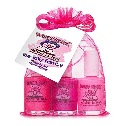 Piggy Farbe ungiftig Mädchen Nagellack–Sicher, Chemikalien toe- Tally Fancy (3Pack)