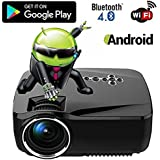 Freshdcart GP70UP Portable Projectors For Home Full Hd 1080p Mini Best Home Projector Led Blutooth 4.0 Built In Wifi For Cinema Video Games Laptops(multimedia Player)