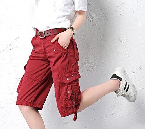 Ghope Damen 3 4-Hose Designer Chino Cargo Shorts Capri Bermuda kurze  Stoffhose Jeanshose 3db642e596