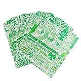 MagiDeal Wachspapier, Grün Weihnachten Muster, 50pcs, 22×25cm, Backpapier, Bonbonpapier, für Süßigkeiten Lebensmittel