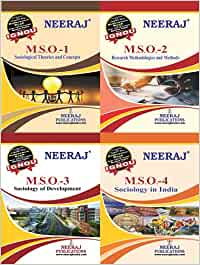 Neeraj Publication IGNOU English Medium MA Combo (M.S.O-1, M.S.O-2, M.S.O-3, M.S.O-4) Reference Books Based on IGNOU Syllabus [Flexibound] IGNOU