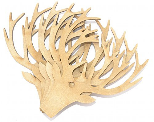 Preisvergleich Produktbild Hirsch Kopf-handwerk Form 5 Pack