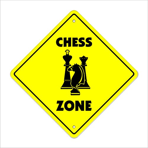 SignMission Chess Crossing Sign Zone Xing |-| 50,8cm Hoch Game Board Game Player Lover Timer Set Stück (Board Game Awards)