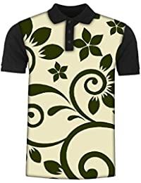 Snoogg Seamless Floral Pattern Abstract Background Men's Polo T-Shirt with Collar Stylish Half Sleeve (Cotton,Polyester)