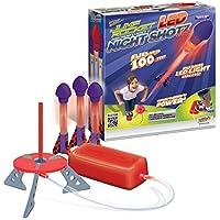 Jump Rocket LED Night Shotz - Jump Pump, Launcher & Light-Up Flying Foam Rockets by GeoSpace