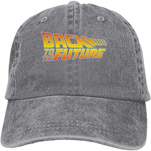 Mütze Hut Back to The Future Logo Fantasy Fiction Film Adjustable Breathable Cotton Hip Hop Hats Washed Denim Hat Black