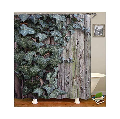Abellale Bad Dusche Vorhang Ahornblatt Waschbarer Duschvorhang Grün 90x180CM (Herrliche Dusche Vorhang)