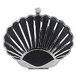 Eeayyygch Sac de soirée de Femmes, Caisse Dure de Cadre en métal avec Embrayage de Courroie en chaîne pour la fête de Mariage (coloré : Noir, Taille : 15x11x6cm(6x4x2inch))