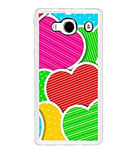 Multi Colour Hearts 2D Hard Polycarbonate Designer Back Case Cover for Xiaomi Redmi 2S :: Xiaomi Redmi 2 Prime :: Xiaomi Redmi 2