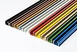 glänzend einläufig Gardinenschiene aus Aluminium (Weiß Gardinenschiene mit Faltenlegehaken, 120cm) Deckenbefestigung mit SMART-KLICK Montage, Innenlaufschiene Vorhangstange für Schiebevorhänge, Gardinen, Vorhänge
