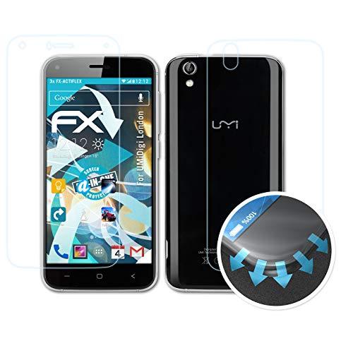 atFolix Schutzfolie passend für UMiDigi London Folie, ultraklare & Flexible FX Bildschirmschutzfolie (3er Set)