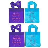 15,2x 22,9cm set di 4borse di Pasqua mini15,2cm (L) x 22,9cm (L) Queste borse di Pasqua mini sarebbe perfetto per un trattamento speciale Pasqua. Misura 15,2x 22,9cm in dimensioni ridotte, la borsa ha un uovo sul davanti e il tè viola ...