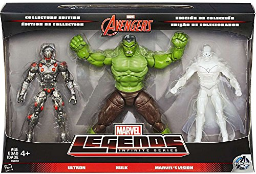 Marvel Avengers Marvel Legends Avengers Infinite Series 1 Ultron, Hulk & Marvel's Vision 6 Action Figure by Marvel