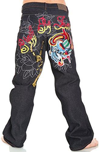 Pizoff Herren Hip Hop Hipster Rap Style Baggy Jeans in mittelblauer Waschung j9161