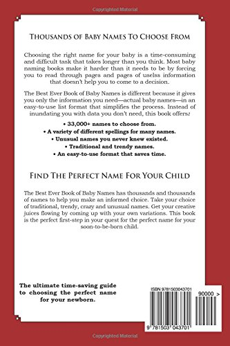 The Best Ever Book of Baby Names for Debt Collectors: 33,000+ Names for Your Baby That Will Last a Lifetime