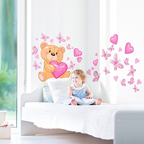 Wall art r00011 pegatinas de pared para ni os oso de mago for Pegatinas pared ninos