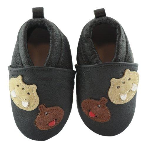 der Lauflernschuhe Krabbelschuhe Babyschuhe Schwarz Monster 12 bis 18 Monate (Monster Schuhe)