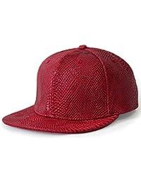 LOCOMO Men Women PU False Crocodile Skin Leather Cap FFH231BLK