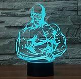 Bodybuilding 3D führte Nachtlicht führte bunte Acryllichter Hologramm-Kindertischlampe-Atmosphäre Usb führte helle Lampe Canon-Licht