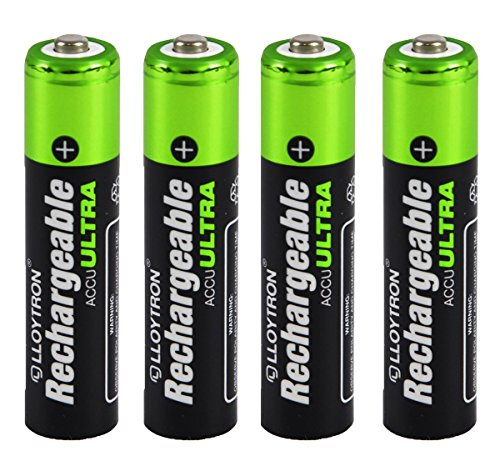 4 x Lloytron Taille AAA Piles rechargeables 1100 mAh NiMH Accu Ultra