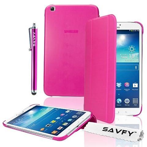 Samsung Galaxy Tab 3 8 Pouces - SAVFY® 3en1 Ultra Slim Housse en cuir