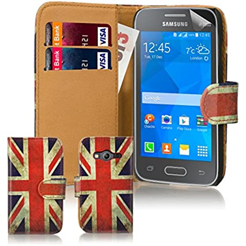 32nd Portafoglio disegno PU Pelle Custodia Protettiva Case Cover per Samsung Galaxy Ace 4 SM-G357FZ - Union Jack