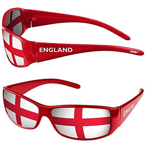 Taffstyle® Fanartikel Sonnenbrille Fan Brille zur Fussball Weltmeisterschaft WM & EM Europameisterschaft 2016 Länder Flagge Style - England
