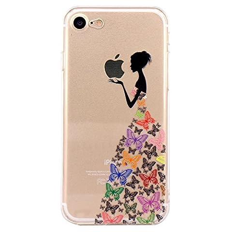 iPhone 7 Case, JIAXIUFEN TPU Silicone Gel Soft Clear Phone