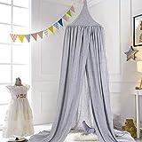 Betthimmel für Kinder/Babys, Moskitonetz zum Aufhängen, Bett-/Schlafzimmerdekoration, Waschbare Moskitonetze Baldachin für Bett, Grau
