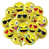 Meowoo Emoji Ballons gonflables en Aluminum Ballon,Smiley Face Ballons pour Fêtes Anniversaire Mariage Décorations Ballons Hélium 45 cm (Emoji 13 Pcs)
