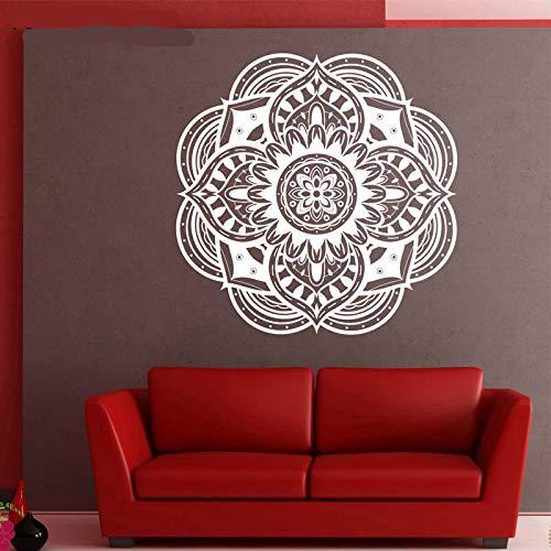 Vinyl Wandtattoo Aufkleber Runde Ornament Mandala Meditation Dekorative Aufkleber Yoga Studio Wandkunst Kreative In Haus Und Garten Wandaufkleber A16 42x42 CM