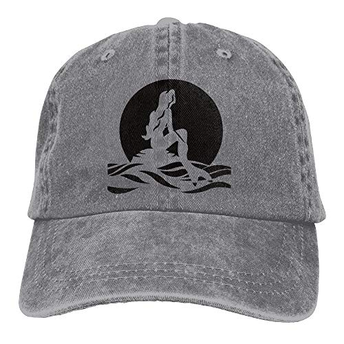 he Little Mermaid Trend Printing Cowboy Hat Fashion Baseball Cap ForBlack ()