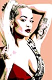 Rita Ora–Bild moderne handbemalt–Pop Art Effect (Format 50x 80cm)