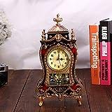 Alarm Clock European Clocks, Fashion, Personality, Retro Clock, Creative, Silent Clock, Clock, Hourly Clock,Gold