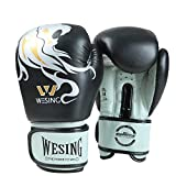 Guantoni da boxe Junior Kids & Adult Taglie Muay Thai Training in pelle Sparring Punching Bag, 2,10 oz
