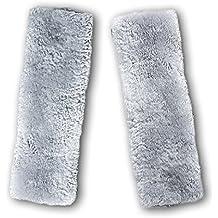 HLZDH – Almohadilla de piel suave de imitación para el hombro para cinturón de seguridad | dos almohadillas para el cinturón de seguridad del asiento del coche | un artículo esencial para todos los conductores para un majo más cómodo